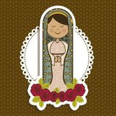 Religious Illustration from the Virgin Mary mother of Jesus Christ vector illustration