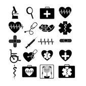 Lékařské ikony monochromatický