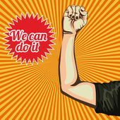 We can do it over grunge background vector illustration