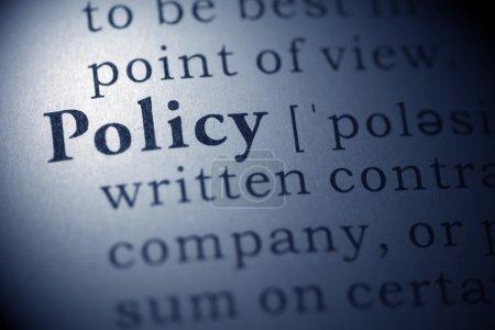Постер, плакат: Policy, холст на подрамнике