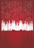 Wein rot abstrakt mit Flaschen