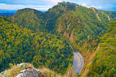 The Dunajec River Gorge. View from Sokolica Mountain.