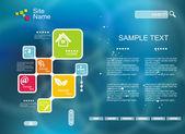 Firemní website šablona. kreativní multifunkční mediální desig