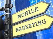 Podnikatelský koncept. mobilní marketing znamení