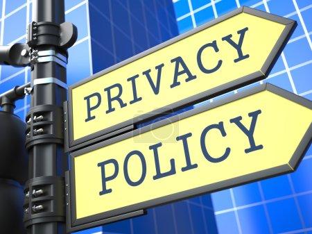 Постер, плакат: Privacy Policy Roadsign , холст на подрамнике