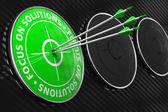 Zaměřit se na řešení slogan - zelená cíl