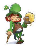 Zwerg mit Bier. Illustration für St. Patricks day