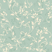 Seamless floral pattern on green background eps10