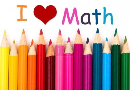 Постер, плакат: I Love Math, холст на подрамнике