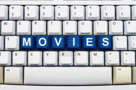 Постер, плакат: Watching movies online, холст на подрамнике