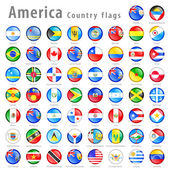 Hi detail vector shiny buttons with all American Country flags Every button is isolated on it's own layer