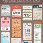 Постер, плакат: Vector Luggage Tags