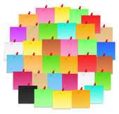 Circle made of color post-it notes vector eps10 illustration