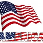 Постер, плакат: American Flag with AMERICA
