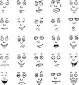 Karikatúra szembenéz érzelmek kézzel rajzolt készlet