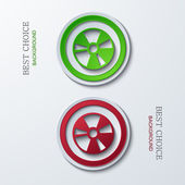 Vector modern circle icons on sample background 2 variants Eps10