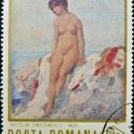 Постер, плакат: Stamp printed in Romania shows Nude by Nicolae Grigorescu