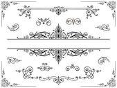 Symmetrical ornament design elements