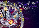Time clock mechanism vector illustration EPS10 clip art