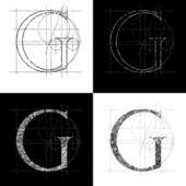 Decorative symbol G vector illustration clip art