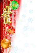 Christmas and new year background vector illustration