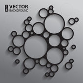 Abstract background with back and white sketch graphical circles and shadows RGB EPS10 vector illustration