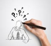 Ruční kreslení podnikatel