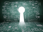 Dveře v podobě klíčové dírky