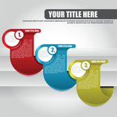 Vector abstract color background with three tabs for text