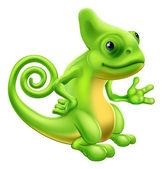 Kreslený chameleon