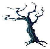 Strašidelný halloween strom