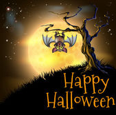 Oranžová halloween upír pozadí