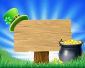 Saint Patricks Tag Kobold Zeichen