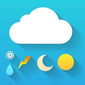 Weather symbols Trendy flat icon design element