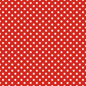 Retro seamless vector pattern with small white polka dots on red background