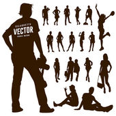 Silhouette Motion people background vector illustration
