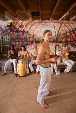Постер, плакат: Capoeira Performers Together, холст на подрамнике