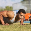Постер, плакат: Handsome Man Doing Push Ups