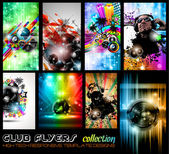 Club Flyers ultimate collection - High quality abstract full editable template designs for music posters or disco flyers