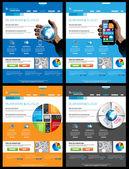 Web Design s 4 různých předmětů témata