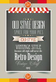 Vintage retro page template for a variety of purposes: website home page old style flyers book covers or vintage posters