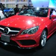 Постер, плакат: BKK NOV 28: The new Mercedes Benz E class cabriolet on displa