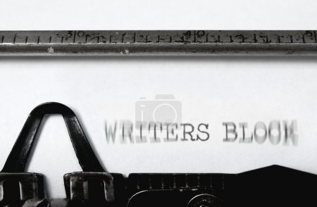 Постер, плакат: Writers block, холст на подрамнике