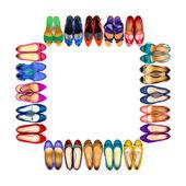 Vícebarevné žena boty rám-3