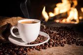 Tasse von heißem Kaffee