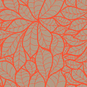 Doodle chestnut leaves seamless pattern