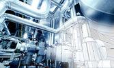 Vázlatot design csővezeték keverve ipari berendezések fénykép