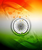 Republic day stylish indian flag tricolor wave colorful vector background
