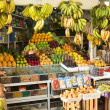 Постер, плакат: Fruit and Vegetable Stand on Market in Lima Peru