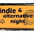 Постер, плакат: Indie alternative night stamp
